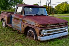 Old Chevy truck stock image