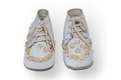 Antique childrens shoes Royalty Free Stock Photo
