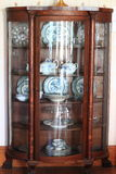 Antique China Cabinet. Antique Wooden China Cabinet built and used at early twentieth century in a farm house Stock Images