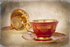 Antique China Cups Stock Images