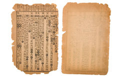 Antique chinese book page Stock Photography