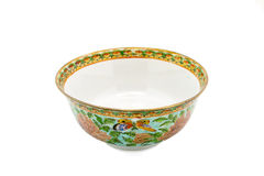 Antique Chinese Ceramic bowl isolate Royalty Free Stock Image