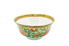 Antique Chinese Ceramic bowl isolate Royalty Free Stock Images