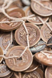 Antique Chinese coins on Panjiayuan Market, Beijing, China. Stock Photography
