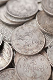 Antique Chinese coins on Panjiayuan Market, Beijing, China. Stock Photo