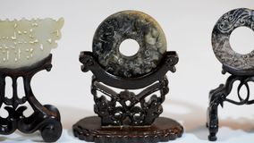 Antique Chinese jade. stock video footage