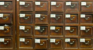 Antique Chinese medicine chest Stock Photos