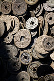 Antique chinese money Stock Photography