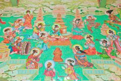 Antique Chinese mural. Stock Photos