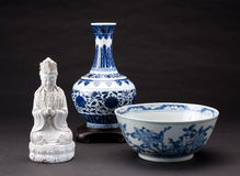 Antique chinese porcelains Stock Images