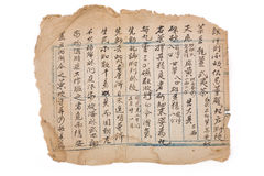 Antique chinese prescription Royalty Free Stock Photos