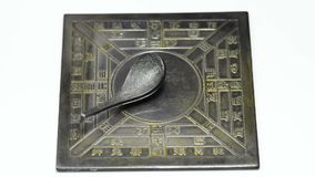 Antique Chinese spoon compass stock video footage