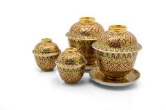 Antique Chinese tea bowl set Royalty Free Stock Photos