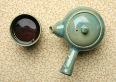 Antique chinese teapot and a cup Stock Photos