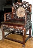 Antique Chinese Throne Chair. royalty free stock photos