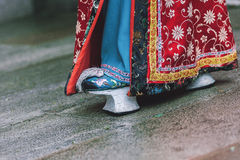 Antique chinese woman's shoes Stock Photography