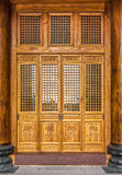 The antique Chinese wooden carved doors Stock Image