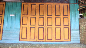 Antique chinese wooden door Stock Photography