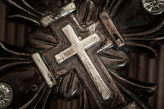 Antique Christian Cross with Jewels Stock Image