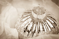Antique Christmas bauble Royalty Free Stock Images