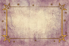 Antique Christmas Frame on Background With Texture Stock Photography