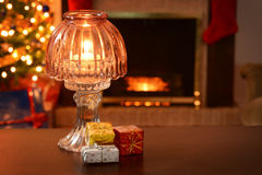 Antique christmas lamp Stock Images