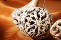 Antique christmas ornaments Royalty Free Stock Photos