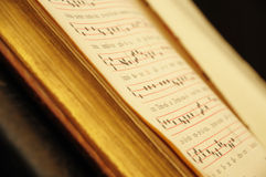 Antique church book Stock Image