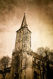 Antique church building in france Stock Photo