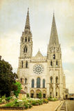 Antique church building in france Stock Images