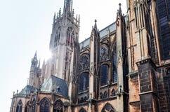 Antique church building in paris Stock Image