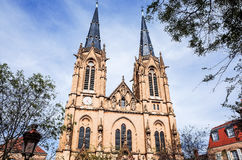 Antique church building in paris Royalty Free Stock Photography
