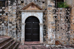 Antique Church Door in La Aduana, Mexico Royalty Free Stock Images