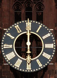 Antique church tower clock Royalty Free Stock Photo