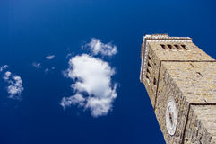 Antique church tower in Koper in lovely summer day Royalty Free Stock Photo