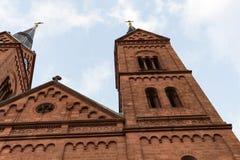 Antique church towers #2. Seligestadt Rhein Main Stock Image