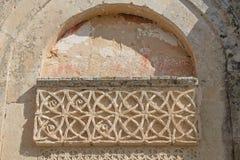 Antique Church wall element. Antique Roman Church wall element Stock Photo