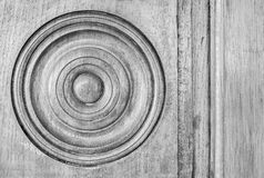 Antique Circular Wooden Panel Stock Photography