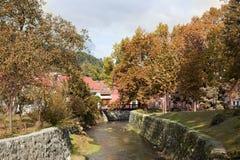 Antique city in autumn. Antique city Samobor in autumn, Croatia Royalty Free Stock Image