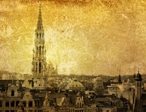 Antique city building in Europe Royalty Free Stock Photography