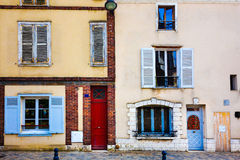 Antique city building in paris Royalty Free Stock Photography