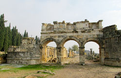 Antique city ruins stock photography