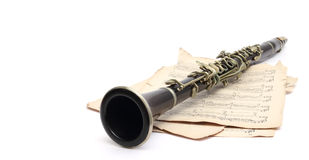 Antique clarinet Stock Photo