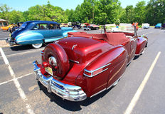 An antique and classic car show Stock Image