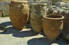 Antique clay jars Royalty Free Stock Photography