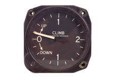 Antique climb decend indicator Royalty Free Stock Photos