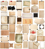 Antique Clipboard And Photo Corner, Aged Paper Sheets, Frames, B Royalty Free Stock Images