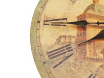 Antique Clock. A closeup of an antique clockface with roman numerals Royalty Free Stock Photography