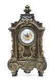 An antique clock Stock Images