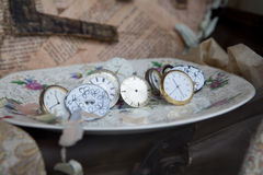 Antique clock Royalty Free Stock Photos